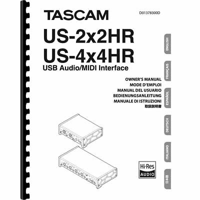 Tascam US-2x2HR & US-4x4HR USB/ MIDI Audio Interface Owner Manual (Pages: 168)