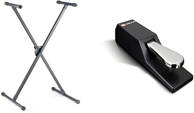 Stagg KXS-A35 Height Adjustable Keyboard Stand & M-Audio SP-2 - Universal Pedal