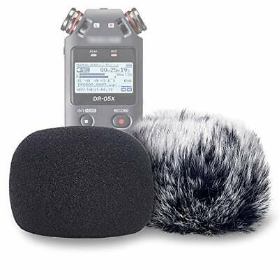 DR05X Windscreen Muff and Foam Compatible with Tascam Windscreen Kit for DR-05