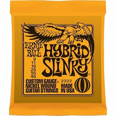 Ernie Ball 2222 Hybrid Slinky Electric Strings 9-46 • 7.60£