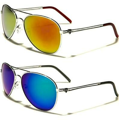 Mirrored Pilot Sunglasses Police Fbi Silver Designer Retro Uv400 Mens Ladies • 9.89£