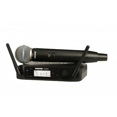 Shure GLXD24/B58 Rechargeable Digital Beta58 Wireless Microphone System - NEW • 420.51£