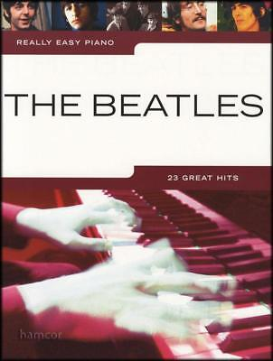 Really Easy Piano The Beatles 23 Great Hits Songbook With Chords HL00242082