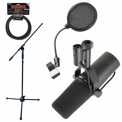 Shure SM7B Dynamic Vocal Microphone Mic Boom Stand Pop Filter And Mogami Cable • 343.80£