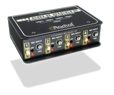 Radial Engineering Gold Digger 4-Channel Microphone Selector • 270.04£