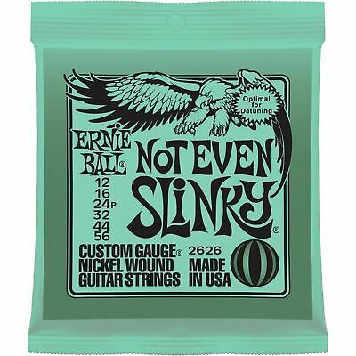 Ernie Ball 2626 Not Even Slinky Nickel Wound Electric Guitar Strings, 12-56 • 6.71£