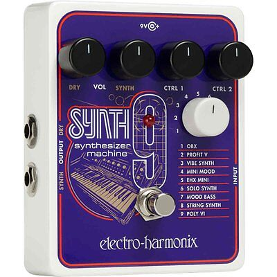 ELECTRO HARMONIX SYNTH9 SYNTHESIZER MACHINE GUITAR PEDAL Synth 9 • 205£