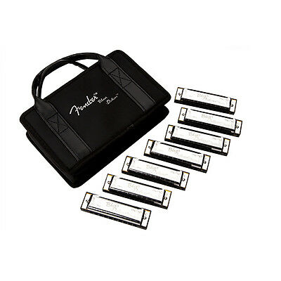 Fender Blues Deluxe Harmonicas 7-Pack With Case • 50.64£