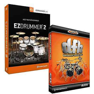 Toontrack EZdrummer 2 And Drum Kit From Hell Expansion (Serial Download) • 149£