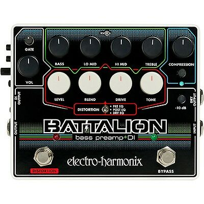 Electro-Harmonix EHX Battalion Bass Guitar Preamp And DI Effects Pedal • 112.46£