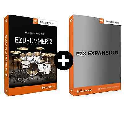 Toontrack EZdrummer 2 + EZX Expansion Pack Of Choice (Serial Download) • 150£