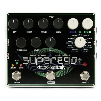 Electro-Harmonix EHX Superego+ Plus Synth Engine Guitar Effects Pedal • 181.92£