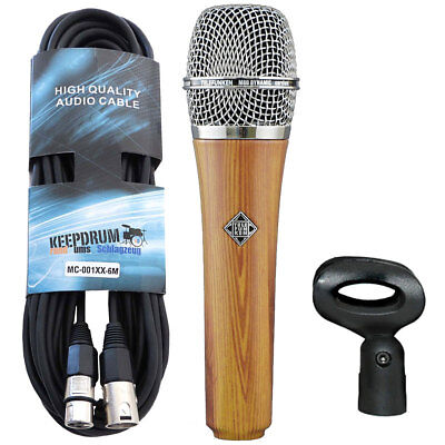 Telefunken M80 Oak Dynamisches Mikrofon + Keepdrum XLR-Kabel 6m • 351.30£