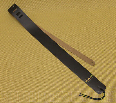 299-0663-006 Jackson Gold Logo Leather Black Guitar & Bass Strap   • 20.02£