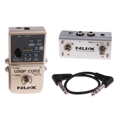 NUX Loop Core Deluxe Guitar Effect Pedal Lopper Drum Patterns With Tam Tempo • 119.47£