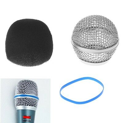 Replacement Mesh Ball Microphone Head Grille Fits For Shure Beta58A / Beta58 • 3.45£