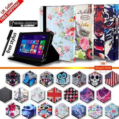 Folio Stand Leather Cover Case For Various Toshiba Encore Model Tablets + STYLUS • 4.49£