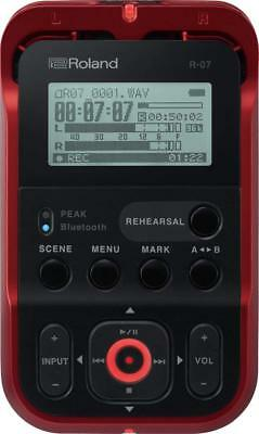 Roland R-07 RD Red Handy Portable Recorder Digital Audio Linear PCM W/ Tracking • 185.76£