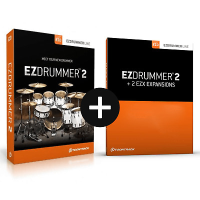 Toontrack EZdrummer 2 + 2 EZX Expansion Packs Of Choice (Serial Download) • 195£