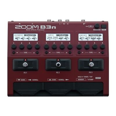 Zoom B3n Bass Multi-Effects Overdrive Distortion Delay Reverb Processor Pedal • 160.91£