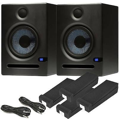Presonus Eris E5 Studio Monitors Kit - Isolation Pads & Cables - Free Delivery • 249£