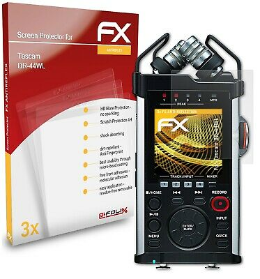 AtFoliX 3x Screen Protector For Tascam DR-44WL Protective Film HD-Antireflection • 6.59£