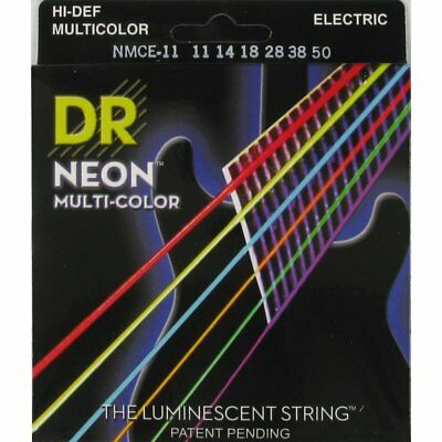 DR NMCE-11 Neon Hi-Def Multi-Color Electric Strings 11-50 • 13.20£