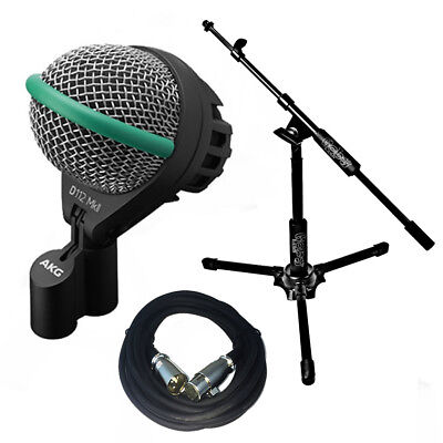 AKG D112MKII Bass Drum Microphone W/Goby Labs Kick Mic Stand 20' XLR Cable • 174.94£