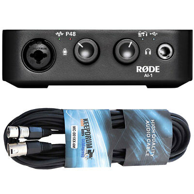 Rode AI-1 USB Audio Interface+XLR Cable • 115.76£