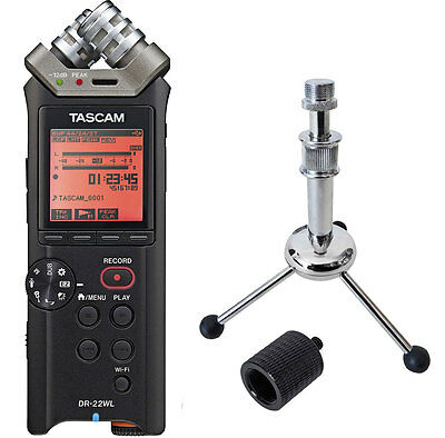 Tascam DR-22WL Recorder + Keepdrum Tripod Tripod + Tripod Adapter • 148.97£