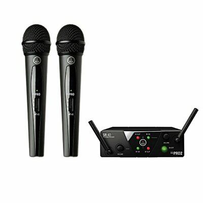 Akg 2-Channel B-Band Wireless System Wms40 Pro Mini2 Vocal Set Dual Domestic • 197.59£