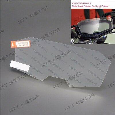 HTTMT Cluster Scratch Protection Film Screen Protector For Yamaha FZ07 MT-07 • 12.42£