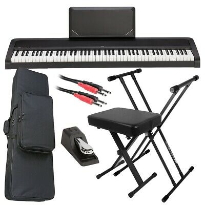 Korg B2N Digital Piano - Black STAGE ESSENTIALS BUNDLE • 410.39£