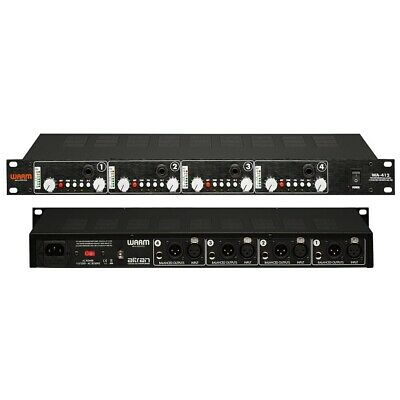 WARM AUDIO WA-412 Professional Four Channel Class A American Style Mic Preamp • 868.30£