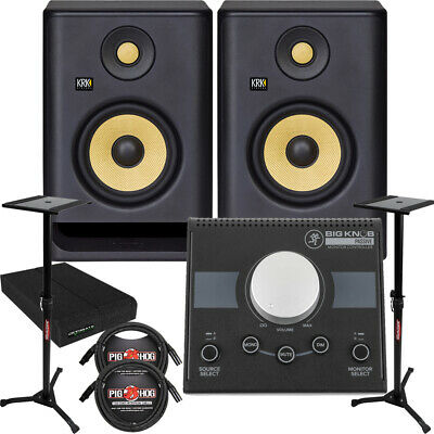 KRK RP5G4 ROKIT 5 G4 5'' Studio Monitors + Stands + Cables + Monitor Controller • 306.49£