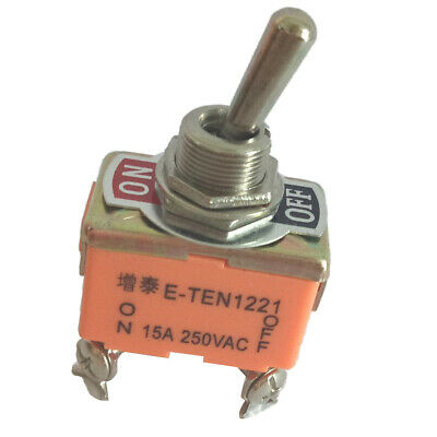 Heavy Duty 4 Pin 2 Position ON/OFF DPST Rocker Toggle Switch AC 250V 15A • 3.80£