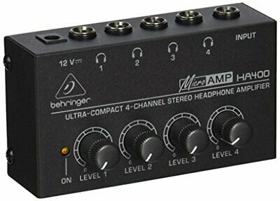 BEST HA400 Microamp 4 Channel Stereo Headphone Amplifier 4 Channel Stere UK FAS • 19.74£