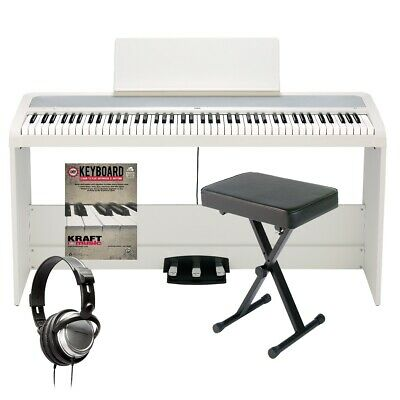 Korg B2SP Digital Piano With Stand - White HOME ESSENTIALS BUNDLE • 456.53£
