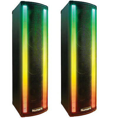 (2) Numark Lightwave DJ Loudspeaker With Built-in Beat Sync'd Light Show (PAIR) • 357.99£