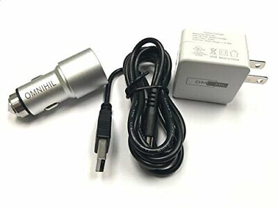 OMNIHIL Wall+Car Chargers+2PK-5FT Micro-USB Cable Compatible With Yamaha PSS-F30 • 9.24£