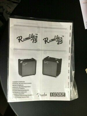 Fender Bass Rumble Amp 25 15 Guitar Manual  • 7.50£