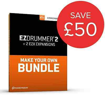 ToonTrack EZDrummer 2 + 2 EZX Expansions Of Choice Bundle (Boxed) • 154£