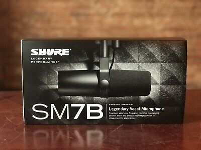 Shure SM7B Legendary Vocal Microphone Cardioid Dynamic Pro Audio • 306.27£