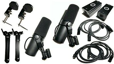 SM7B Shure Podcast Package Boom Arms Preamp Adapters And Cables FREE Shipping! • 467.08£