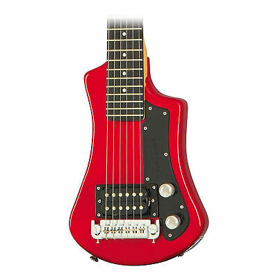 Hofner Shorty Electric Travel Guitar Red • 138.65£