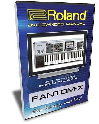 Roland Fantom-X DVD Video Training Tutorial X6 X7 X8 • 21.47£