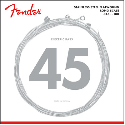 Fender 9050L Stainless Steel Flatwound Electric Bass Strings .045-.100 • 24.75£