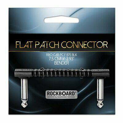 RockBoard Flat Patch Bender75 Cable 7.5cm Ang-ang, Black, RBO CAB PC F B75 BLK  • 6£