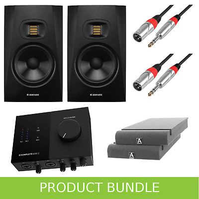 Adam Audio T7V (Pair) With Komplete Audio 2 Interface, Iso Pads & Leads • 449£