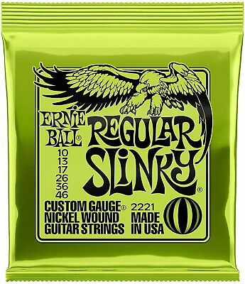 Ernie Ball 2221 Regular Slinky Electric Guitar Strings 10-46 • 7.30£